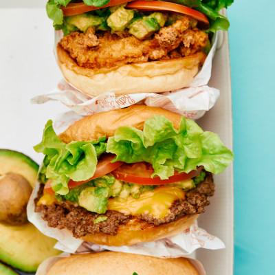 Everyone's Fave Avocado Smash With Any Burger at Betty's