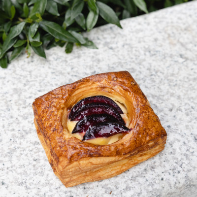 Dive Into Threefold Pastry's Plum Danish