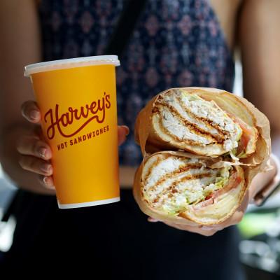 Free Soda at Harvey's Hot Sandwiches